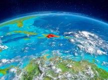 Dominicaanse Republiek ter wereld Stock Foto