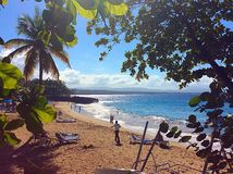 Dominicaanse strandscène Stock Foto
