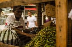 Dominicaanse verkopers in Duarte Street, Santo Domingo-DR. Royalty-vrije Stock Foto's