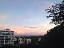 Dominicaanse zonsondergang Stock Fotografie