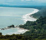 Dominical Beach. View of Dominical Beach and Ballena National Park  in the Pacific coast of Costa Rica Royalty Free Stock Photography