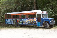 Dominican bus Royalty Free Stock Image