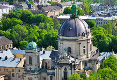 Dominican cathedral church. Lviv. Ukraine royalty free stock images