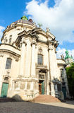 Dominican cathedral  in Lviv City (Ukraine). Stock Image