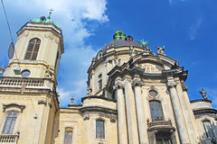 Dominican Cathedral in Lviv, Ukraine Stock Images