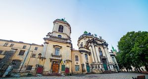 Dominican cathedral in Lviv Ukraine Royalty Free Stock Images