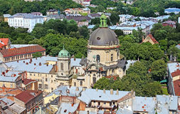 Dominican cathedral in Lviv, Ukraine Stock Image
