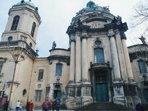 Dominican cathedral and monastery - a cult building in Lviv, one of the most significant monuments of baroque architecture Stock Image