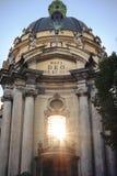 Dominican catholic Church in old Lviv Ukrainian city Royalty Free Stock Photography