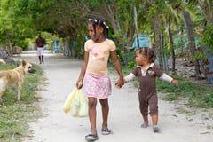 Dominican children Stock Image