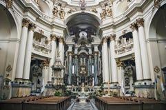 Dominican church. In Lviv, Ukraine. Founded in 1745. Landmark of the Lvov city Stock Photos