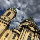 Dominican church, Lviv. Royalty Free Stock Photo