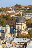 Dominican church, Lviv, Ukraine. Dominican church St. Eucharist church, Lviv, Ukraine royalty free stock photography