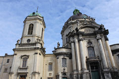 Dominican Church in Lviv Stock Photography