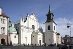 The Dominican Church of St. Jacek is located on Freta Street, in the central district of Warsaw. Stock Images