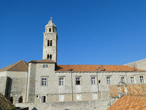Dominican church tower in Dubrovnik Old Town. Croatia Royalty Free Stock Photography