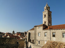 Dominican church tower in Dubrovnik Old Town. Croatia Stock Photos