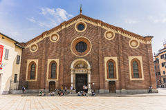 Santa Maria delle Grazie, Milan. Dominican Convent and Church of Santa Maria delle Grazie were built under the order of the Duke of Milan Francesco I Sforza. In royalty free stock photography