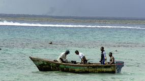 Dominican fisherman Royalty Free Stock Images