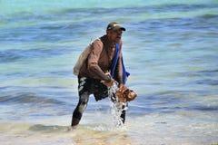 Dominican fisherman Stock Photos