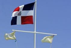 Dominican flag Stock Photos