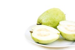 Dominican guava on plate Royalty Free Stock Images