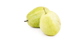 Dominican guava on white Royalty Free Stock Photo