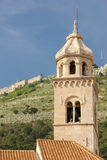 Dominican monastery bell tower. Dubrovnik. Croatia Royalty Free Stock Photos