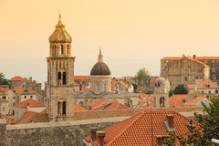 Dominican monastery bell tower. Dubrovnik. Croatia Stock Image