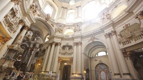 Dominican monastery and cathedral Lviv stock video