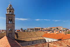 Dominican Monastery's bell tower in Dubrovnik Stock Image