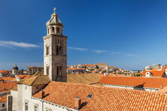 Dominican Monastery's bell tower in Dubrovnik Royalty Free Stock Photos