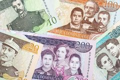Dominican money, a background Royalty Free Stock Image