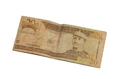 Dominican Pesos. A twenty Dominican peso bill Royalty Free Stock Photography