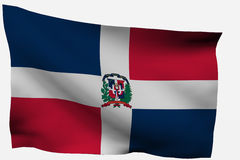 Dominican Republic 3d flag. Isolated on white background Stock Photography