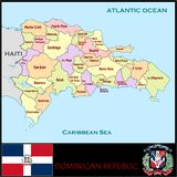 Dominican Republic Administrative divisions Royalty Free Stock Image