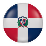 Dominican Republic button. 3d rendering of Dominican Republic flag on a button Stock Photo