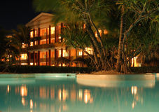 Dominican Republic Caribbean. Dominican republic hotel iberostar at night stock photography