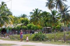 Dominican Republic, Caribbean Sea, Saona island, Mano Juan villa royalty free stock image