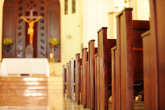 Dominican Republic church interior Royalty Free Stock Image