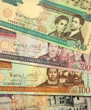 Dominican Republic currency. Dominican Republic - DR - currency - banknotes of 50, 100, 200 and 500 pesos Royalty Free Stock Photo