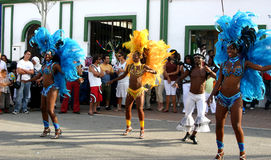 Dominican Republic Dancers Royalty Free Stock Photo