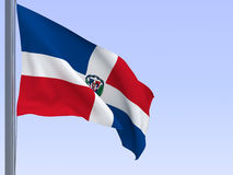 Dominican-republic flag Royalty Free Stock Photography