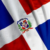 Dominican Republic Flag Closeup Stock Images