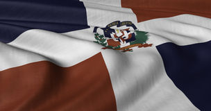 Dominican Republic flag. North American. Dominican Republic flag fluttering in breeze Stock Images