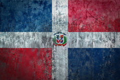 Dominican Republic Flag painted on a Wall. Ddistressed Painting of a Flag on an old Wall Royalty Free Stock Photo
