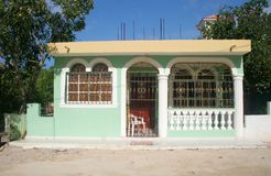 Dominican Republic Home. A typical house in the Dominican Republic Royalty Free Stock Photo