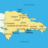 Dominican Republic - map of country - vector Royalty Free Stock Image