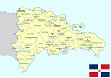 Dominican Republic map - cdr format Stock Photography