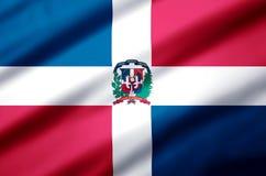 Dominican republic realistic flag illustration. vector illustration